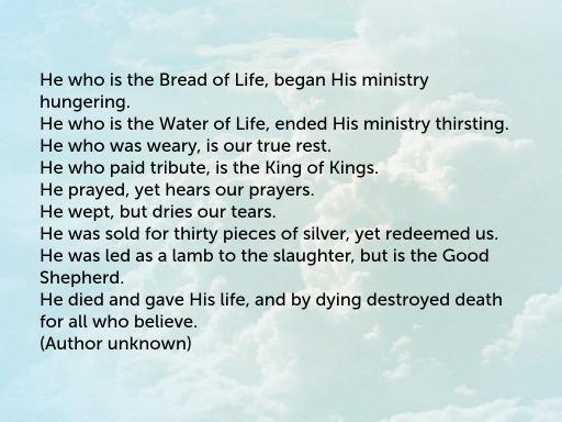 Yeshua Poem